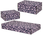 Purple Lace Side Seal Shipping Boxes