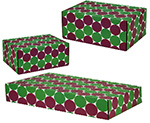 Green-Berry Polkadots Side Seal Shipping Boxes