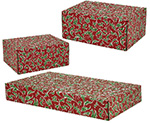 Christmas Holly Side Seal Shipping Boxes
