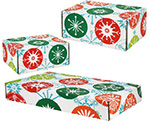Jumbo Snowflake Circles Side Seal Shipping Boxes
