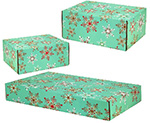 Teal Snowflakes Side Seal Shipping Boxes