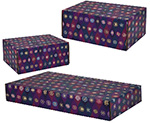Purple Pointed Ovals Side Seal Shipping Boxes