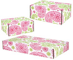 Paisley Pink-Green Side Seal Shipping Boxes