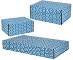 Teal Circles Side Seal Shipping Boxes