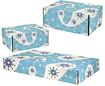 Paisley Pale Blue Seal Shipping Boxes