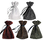 Small Sparkle Sheer Drawstring Jewelry Pouches