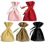 Small Faux Suede Drawstring Jewelry Pouches