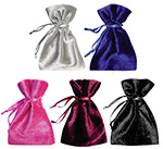 Shiny Velvet Drawstring Jewelry Pouches