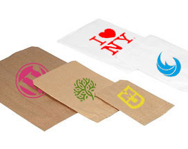 Custom Printed Flat Paper Bags