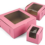 Ohio Valley Pink Windowed Cupcake Boxes
