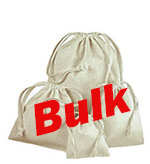 Bulk Premium Cotton Drawstring Pouches