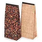 Reclosable Burlap Bean Photo Design Tin Tie Bags