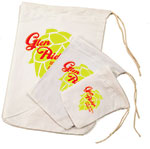 Custom Printed White Bleached Cloth Drawstring Pouch