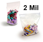 Crystal Clear 2 Mil FDA Polypropylene Zip Style Bags