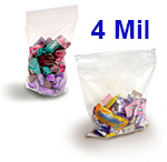 Crystal Clear 4 Mil FDA Polypropylene Zip Style Bags