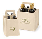 Printed Canvas Beer& Olive Oil Carriers
