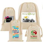 Full Color Short Run Cotton Drawstring Pouches
