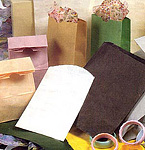 Flat and Stand Up Colored Paper Bags, no handle