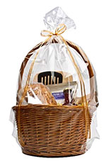 Clear Round Bottom Polypropylene Gift Basket Bags