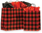Red Buffalo Plaid Paper Shopping Bags
