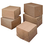 Ohio Valley Brown-White Reversable 2 Piece Lock Corner Boxes