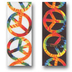 Rockin Peace Designed Ribbon