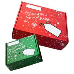 Seasons Greetings Corrugated Mailer Boxes