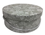Grey Floral Hat Boxes