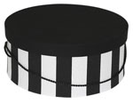 Black White Wide Stripe Hat Boxes