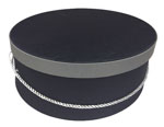 Black w/ Grey Band Hat Boxes