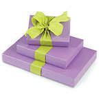Luxury Shimmer Lavender Set-Up Boxes
