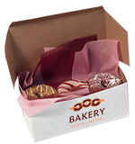 Kwik-Print Imprinted White Bakery Boxes