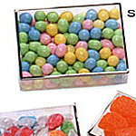 Metallic Trimmed Acetate Candy Box