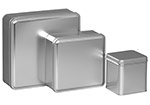 Silver Color Metallic Tins