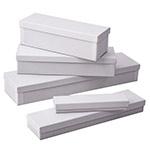 2 Piece White Swirl Silverware Boxes