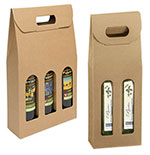 Italian Smooth Kraft Olive Oil & Vinegar Carriers