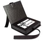Black Ribbon Closure Gift Card Boxes