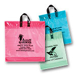 Short Run 3mil Clear Tint Soft Loop Handle Bags