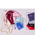 Soft Faux Suede Drawstring Jewelry Pouches