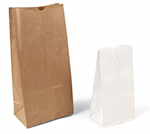 Stand Up Plain Paper Merchandise Bags