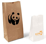 Plain Printed Stand Up Paper Bags