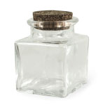 2 3/4 oz Square Corked Jar