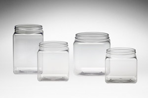 Square Clear Tubs w/ Lids