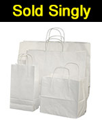 White Simply Single Shopper Sold Individually