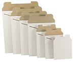 Flat White Cardboard Mailers