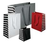Striped Manhattan Bags w/ Grosgrain Handles