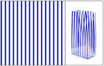 Navy Stripe Polypropylene Bags