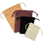 Deluxe Faux Suede Jewelry Pouches