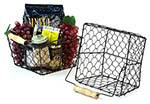 Brown 8 1/2in Wire Basket Wood Handle