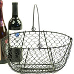 Oval Black Wire Basket